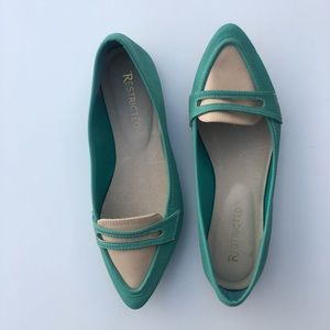 Restricted Shoes - Restricted Turquoise Ballet Flats